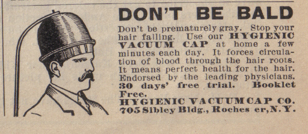 vintage medical newspaper-ads-baldness